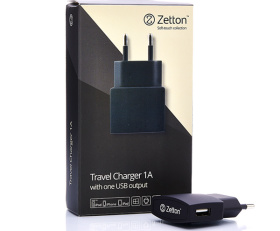Travel charger 1A + 1USB
