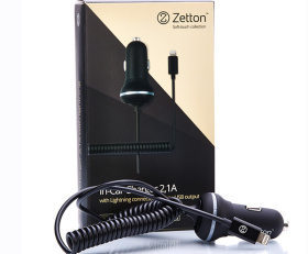 In-Car charger 2.1A + 1USB + Cable USB-Lightning